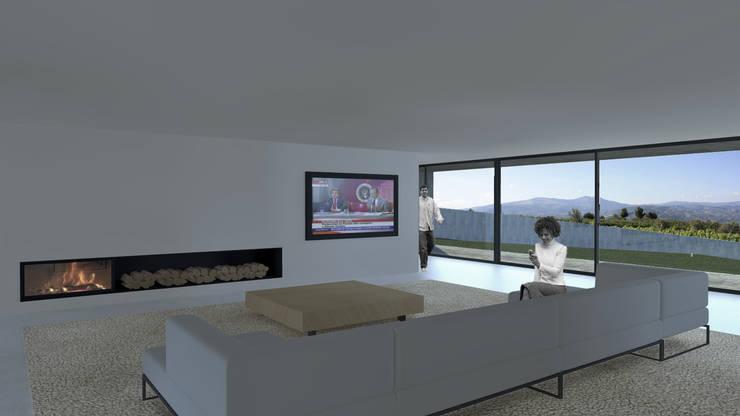 Casa Lamego: Salas de estar  por Lousinha Arquitectos