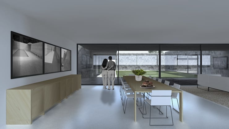 Casa Lamego: Salas de jantar  por Lousinha Arquitectos