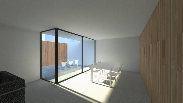 Casa Fonte: Salas de jantar  por Lousinha Arquitectos