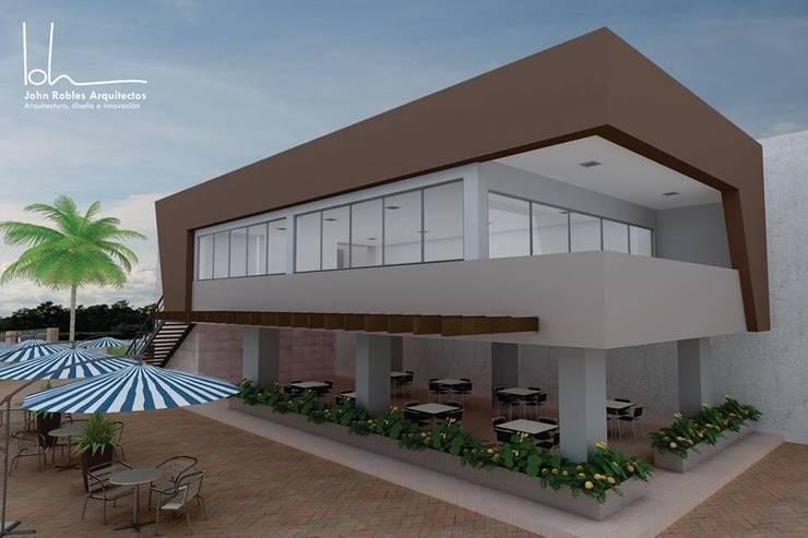 Sala multimediale in stile  di John Robles Arquitectos