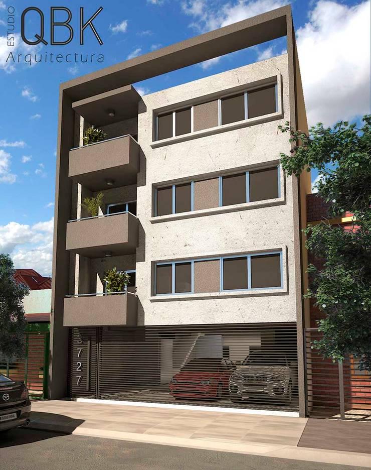 Imágenes 3D: Casas de estilo  por QBK Arquitectura
