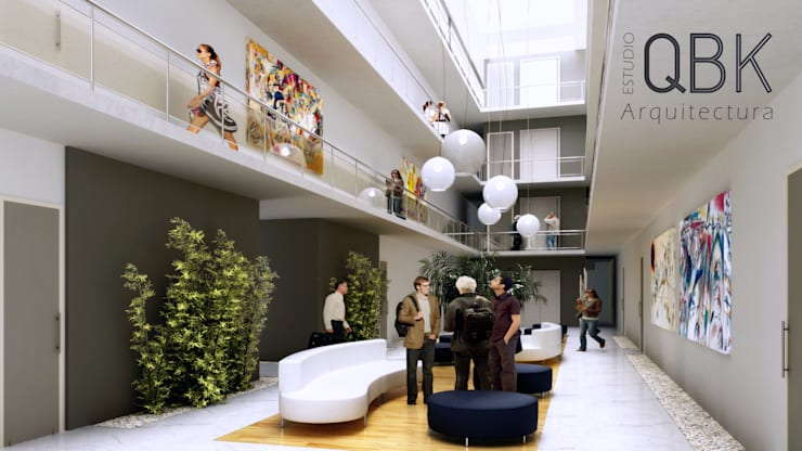Salas / recibidores de estilo  por QBK Arquitectura