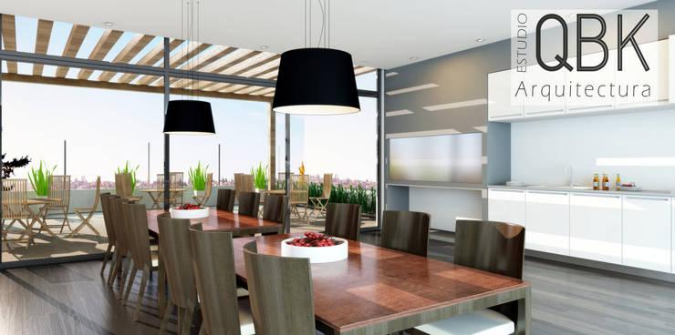 Imágenes 3D: Comedores de estilo  por QBK Arquitectura