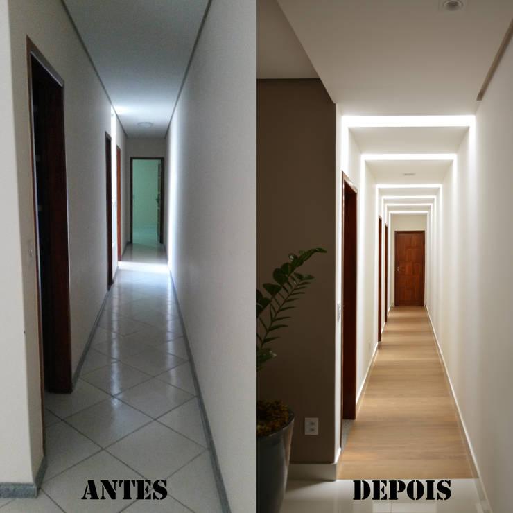 Pasillos y hall de entrada de estilo  por CARDOSO CHOUZA ARQUITETOS