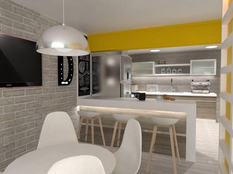 COCINA-COMEDOR: Cocinas de estilo  por AurEa 34 -Arquitectura tu Espacio-