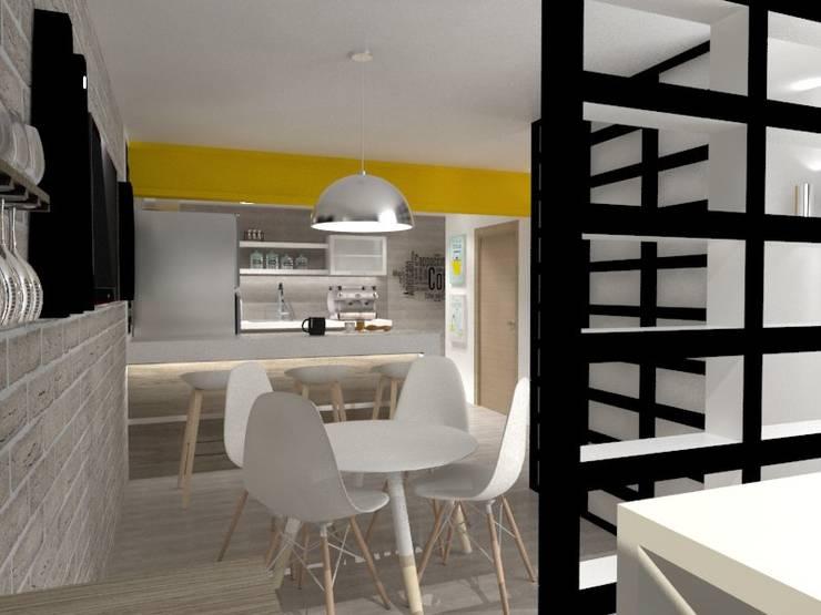 COMEDOR-COCINA: Cocinas de estilo  por AurEa 34 -Arquitectura tu Espacio-
