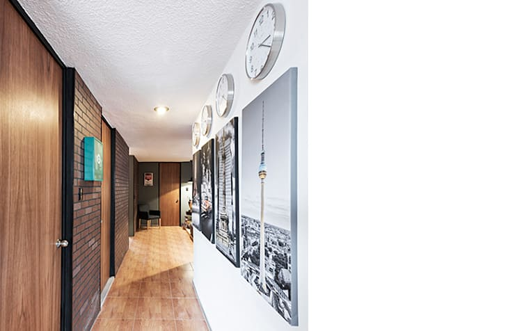 Pasillo Prados#2: Pasillos y recibidores de estilo  por MX Taller de Arquitectura & Diseño