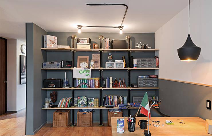 Estudio Prados#2: Estudios y oficinas de estilo  por MX Taller de Arquitectura & Diseño