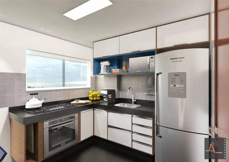 Cozinha GB: Cocinas de estilo  por Ao Cubo Arquitetura e Interiores