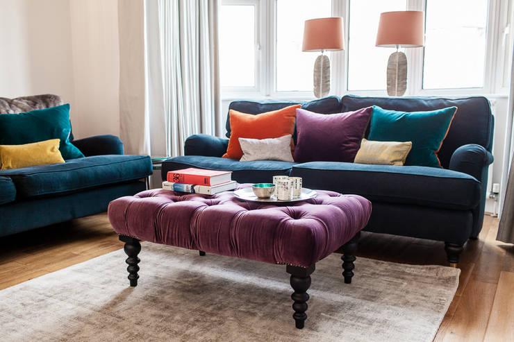 Livings de estilo  por Lauren Gilberthorpe Interiors