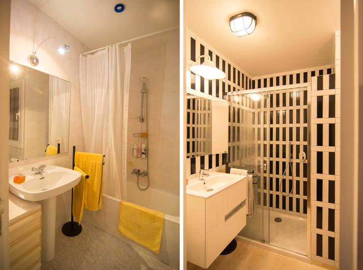 Ванные комнаты в . Автор – Apal Estudio, Скандинавский