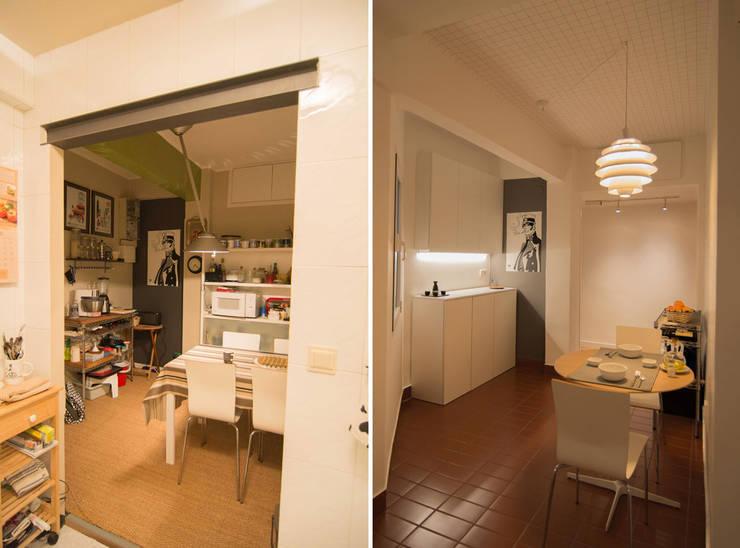 Кухни в . Автор – Apal Estudio, Скандинавский