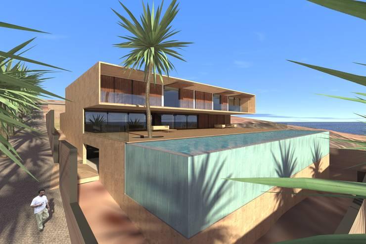 Casa Luanda: Casas  por Lousinha Arquitectos