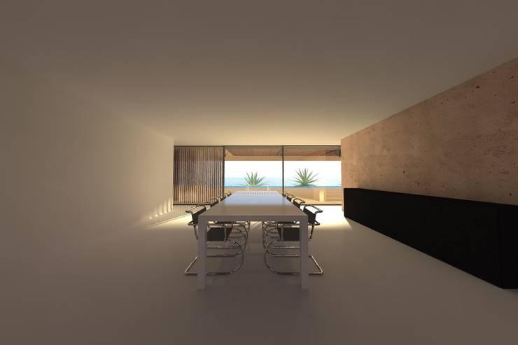 Casa Luanda: Salas de jantar modernas por Lousinha Arquitectos