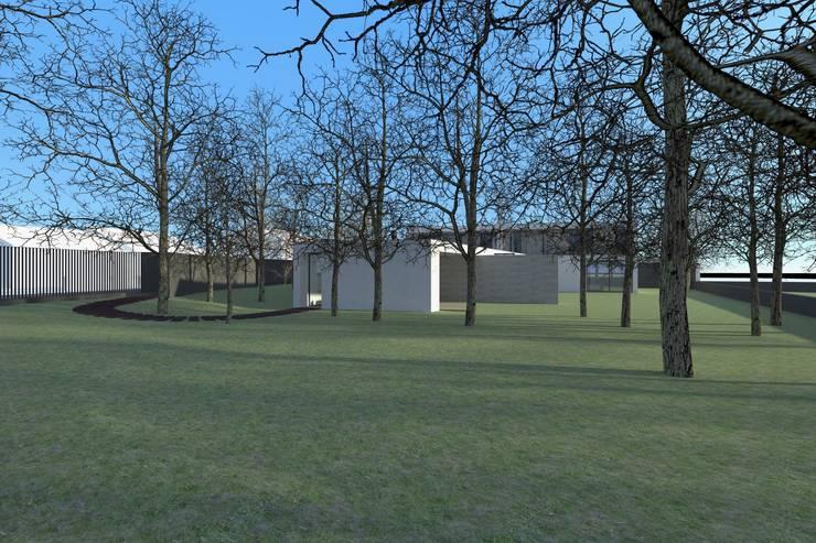 Casa Águeda: Jardins  por Lousinha Arquitectos