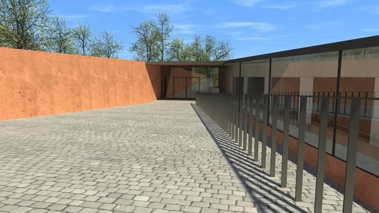 Centro Paroquial de Aguim: Casas  por Lousinha Arquitectos