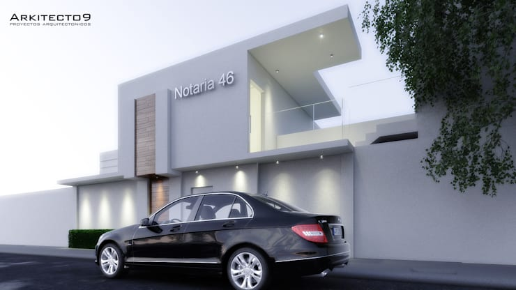 NOTARIA: Casas de estilo  por arquitecto9.com