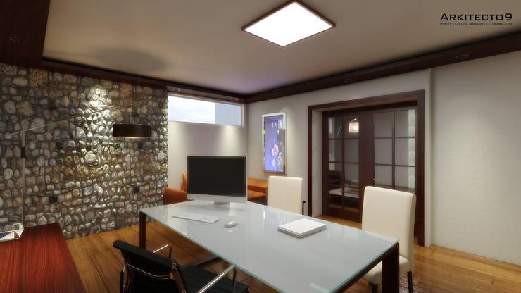 NOTARIA: Estudios y oficinas de estilo  por arquitecto9.com
