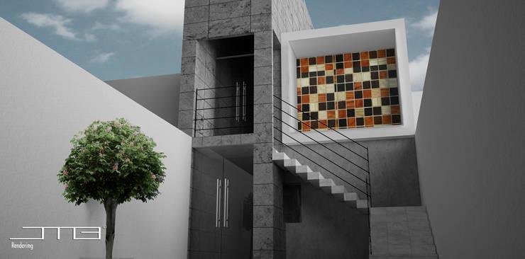 Casa  AJ: Casas de estilo  por JMB 3D Concept