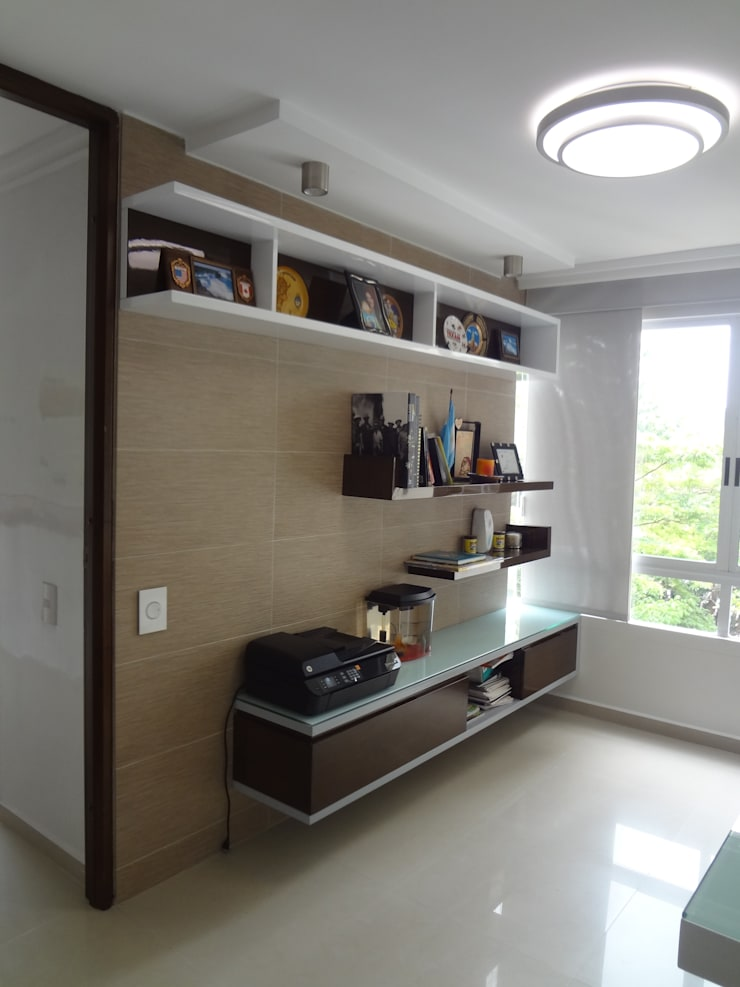 Apartamento Iroka 401 Estudios y despachos de estilo moderno de John Robles Arquitectos Moderno