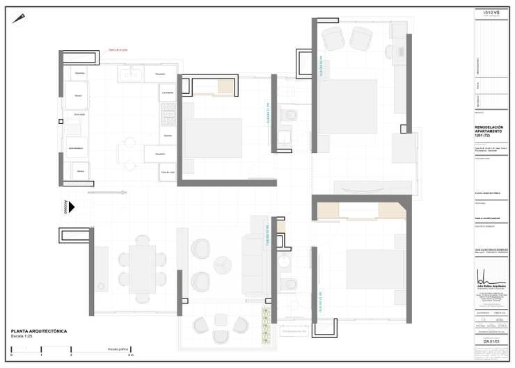 Diseño arquitectónico final:  de estilo  por John Robles Arquitectos