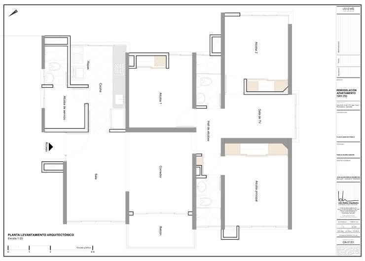 Levantamiento arquitectónico:  de estilo  por John Robles Arquitectos