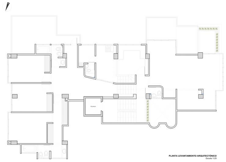 Levantamiento arquitectónico de John Robles Arquitectos Moderno
