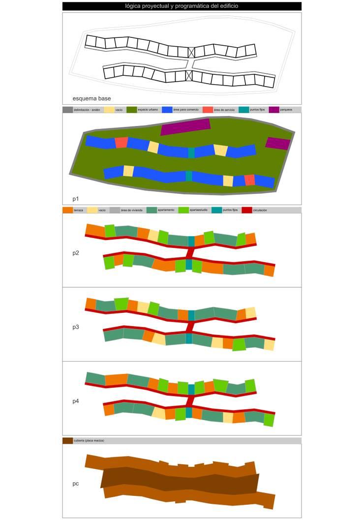 Lógica proyectual y programática del edificio:  de estilo  por John Robles Arquitectos