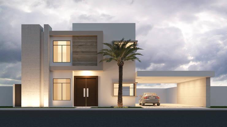 Casa Villas San Angel :  de estilo  por Proyecta Studio
