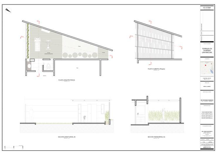 Planimetrías de diseño:  de estilo  por John Robles Arquitectos