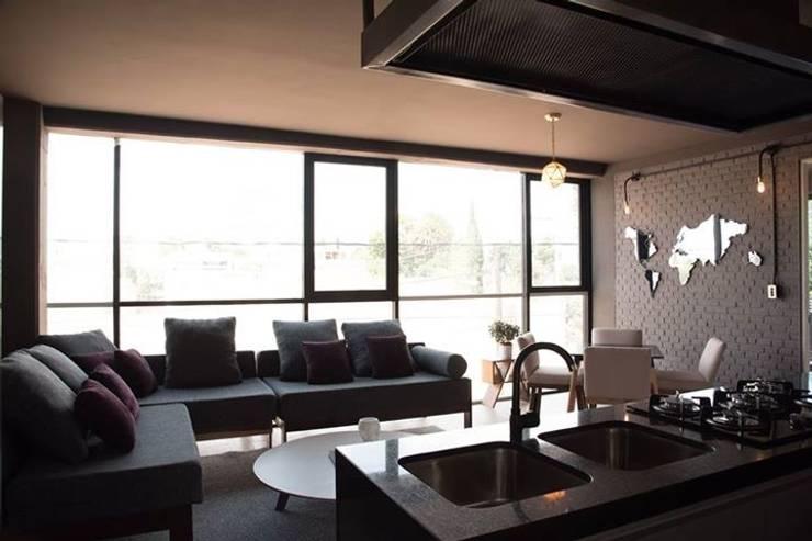 Sala Jordi: Salas de estilo  por Casa DEROCA