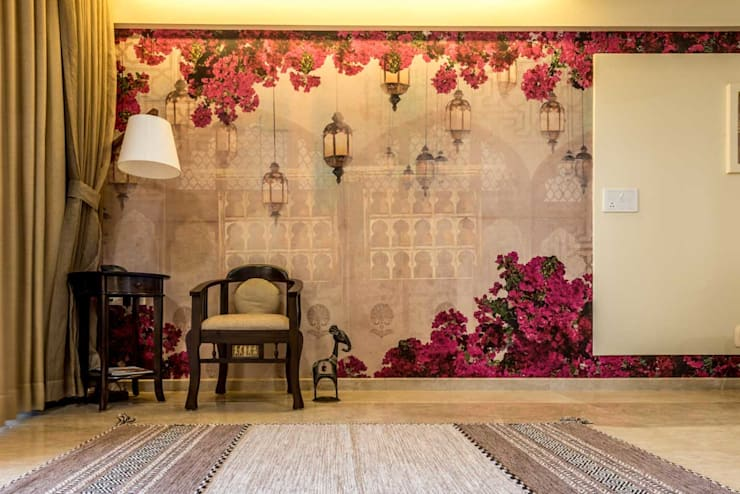 The wallpaper: classic Living room by iSTUDIO Architecture