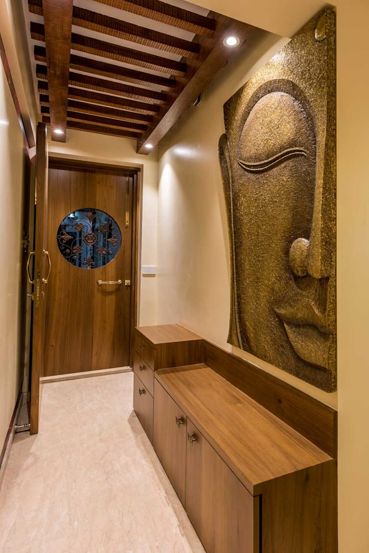 Buddha face:  Artwork by iSTUDIO Architecture