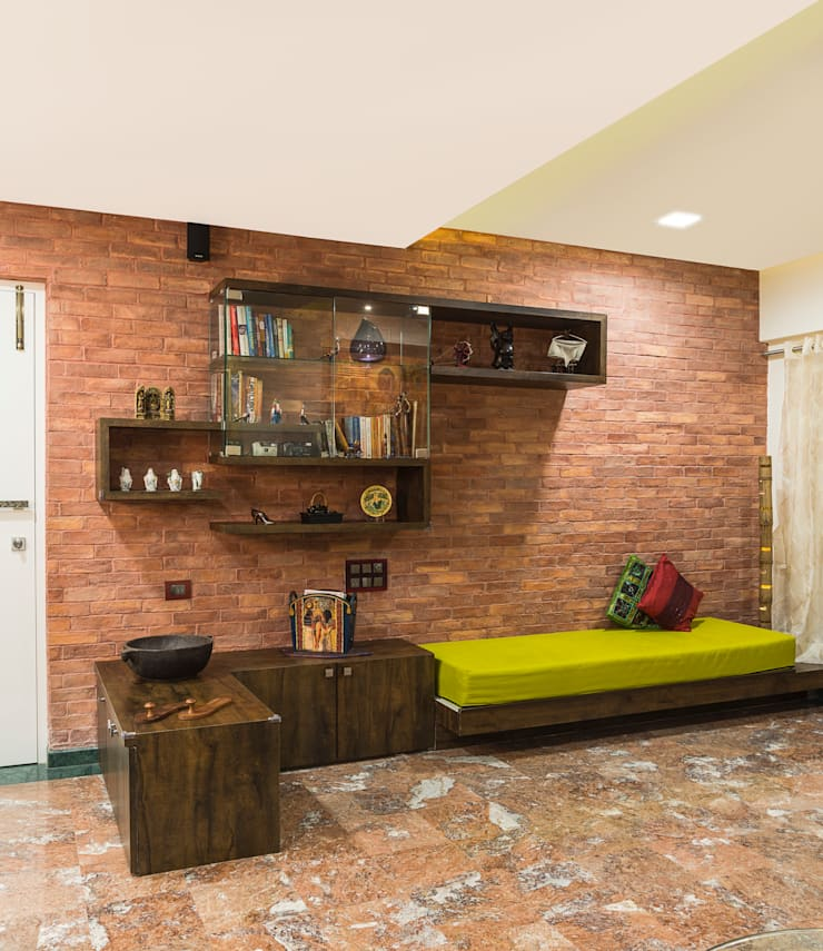 reading area: rustic Living room by iSTUDIO Architecture