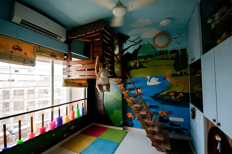 tree house:  Nursery/kid's room by iSTUDIO Architecture