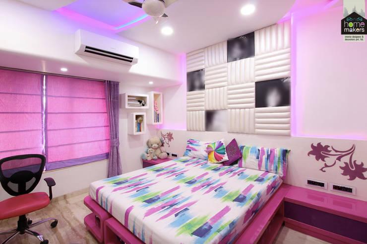Daughter's Bedroom 2:  Bedroom by home makers interior designers & decorators pvt. ltd.