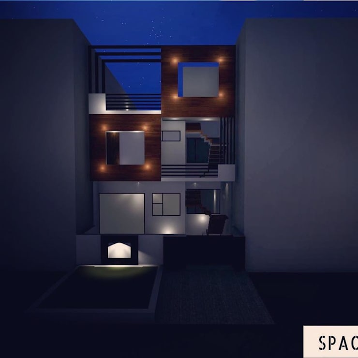 FRAMED RESIDENCE: modern Houses by Spacetecture