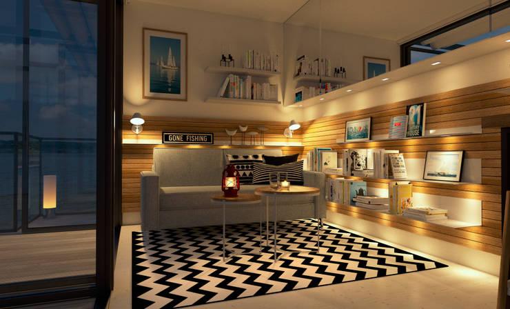 Projekty,  Salon zaprojektowane przez Innenarchitektur | Ina Nimmrichter