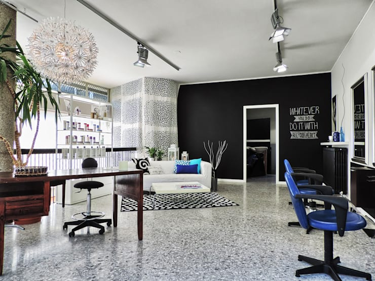 Eclectic style study/office by Boite Maison Eclectic