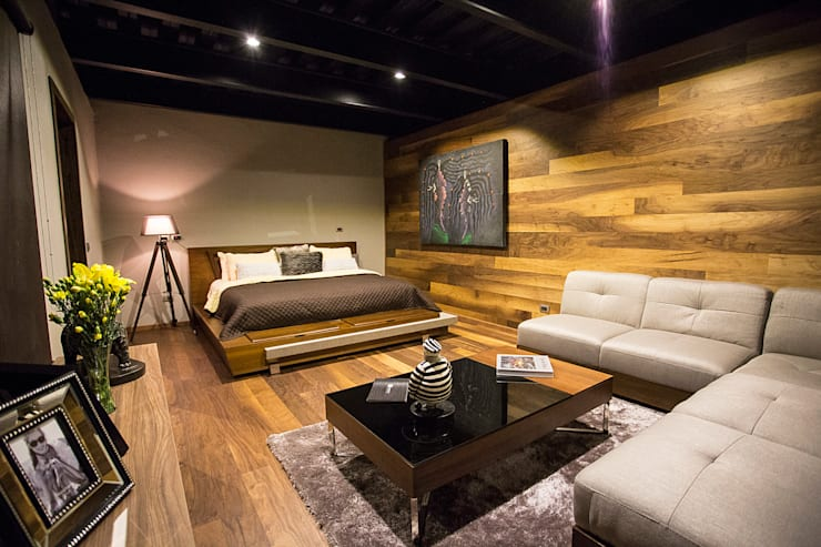 Dormitorios de estilo moderno de Con Contenedores S.A. de C.V.