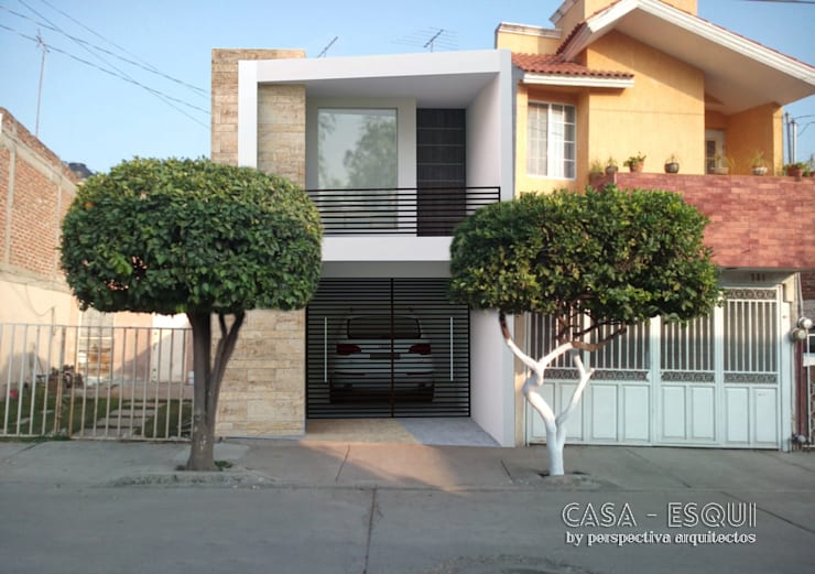 Casa ESQUI: Casas de estilo  por Perspectiva Arquitectos México