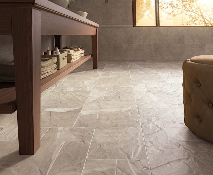 Senate Stone Effect Porcelain Flagstone Tiles:  Walls & flooring by The London Tile Co.