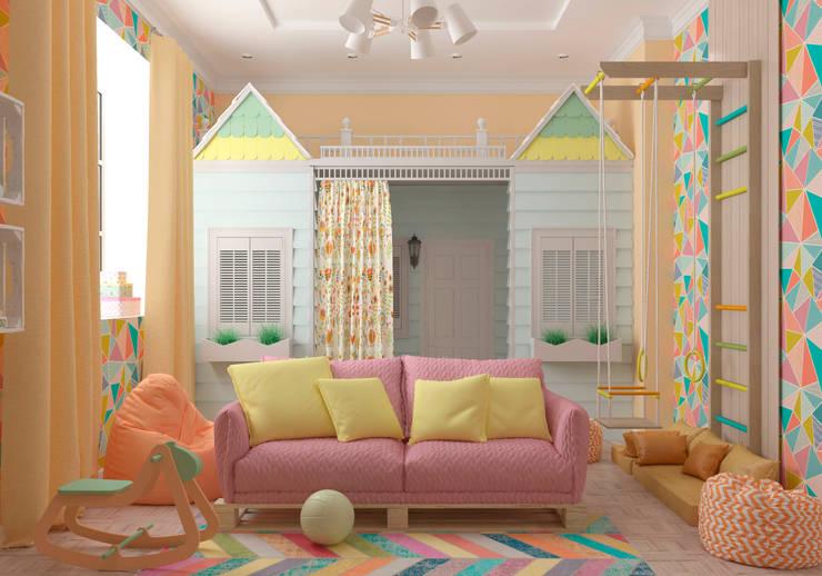 """Игровая комната """"Zootopia"""" vol. 2: Детские комнаты в . Автор – Студия дизайна Дарьи Одарюк"""