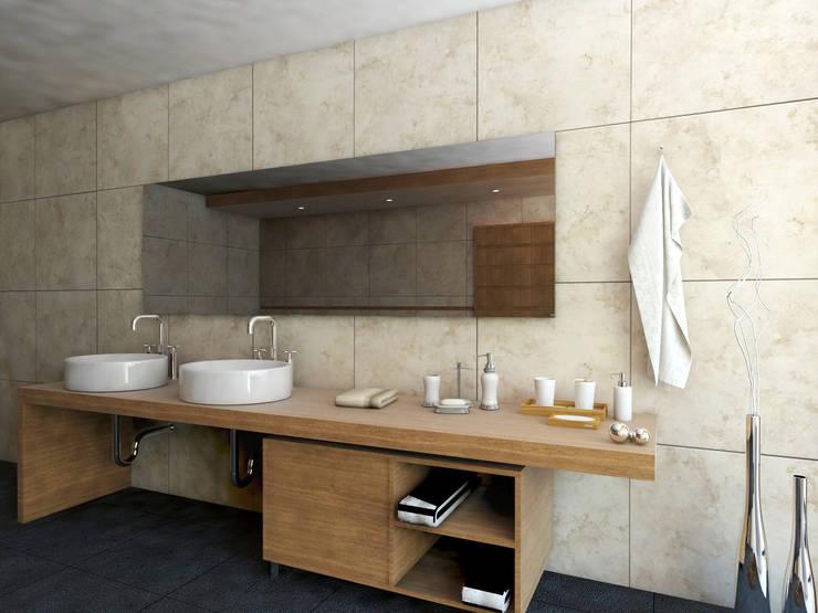BAÑO: Baños de estilo  por PROYECTARQ | ARQUITECTOS
