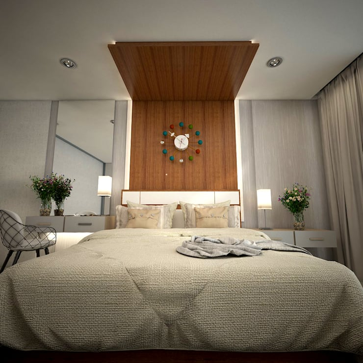 غرفة نوم تنفيذ PROYECTARQ | ARQUITECTOS