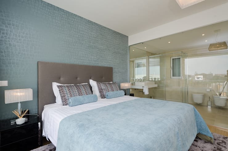 Private Interior Design Project – Town House Albufeira: Quarto  por Simple Taste Interiors