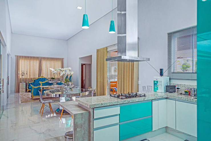 Projekty,  Kuchnia zaprojektowane przez Daniele Galante Arquitetura
