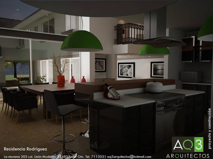 Residencia Rodriguez: Comedores de estilo  por AQ3 Arquitectos