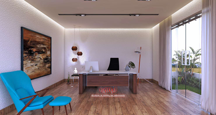 office interior:  Study/office by KARU AN ARTIST