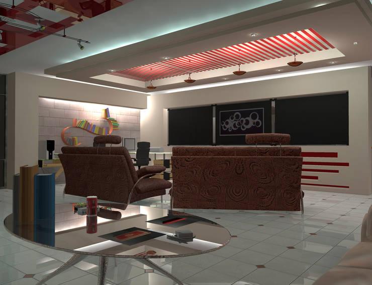 Interior 2: Salones para eventos de estilo  por HC Arquitecto